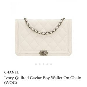 Chanel Boy Caviar Leather Wallet on Chain
